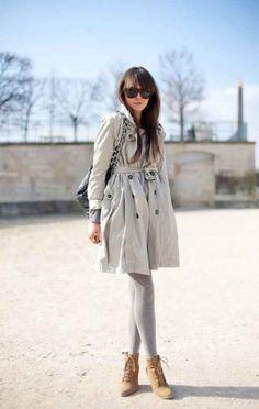 neutral gray tights