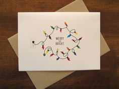 similar to Merry and Bright - Holiday Card (set of on Etsy - -Items similar to Merry and Bright - Holiday Card (set of on Etsy - - Christmas Card Chemistry Periodic Table of by theBirdandtheBeard 50 Creative DIY Christmas Card Ideas Diy Holiday Cards, Christmas Card Crafts, Homemade Christmas Cards, Xmas Cards, Christmas Art, Handmade Christmas, Etsy Christmas, Cards Diy, Chrismas Cards