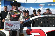 Austin Dillon Captures the Daytona 500 Pole with Iconic No. 3 | Fan4Racing  http://fan4racing.com/2014/02/17/austin-dillon-captures-the-daytona-500-pole-with-iconic-no-3/  Austin Dillon, driver of the #3 DOW Chevrolet, poses for a photo with the Coors Light pole award after winning pole position for the NASCAR ...