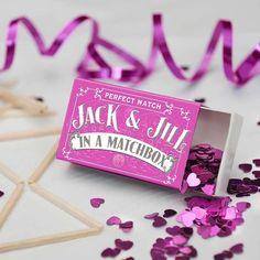 personalised wedding favour matchbox by marvling bros ltd.   notonthehighstreet.com