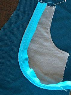 Schrägband an Taschen nähen