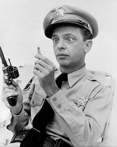 Deputy Barney Fife with his one bullet from his left chest pocket - The Andy Griffith Show