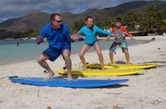 Group surf lessons in SXM Surf Explorer