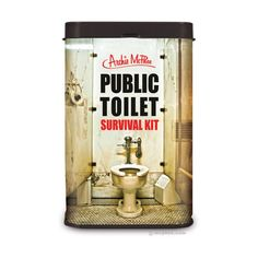 Public Toilet Survival Kit - Funny.  I know a few people who would see the humor, but actually carry it in their purse.  Ha!  ||  archie mcphee