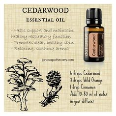 Cedarwood essential oil benefits and diffeser blend www.onedoterracommunity.com https://www.facebook.com/#!/OneDoterraCommunity