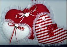 CraftBits.com Valentines Day Decorations, Valentine Day Crafts, Valentine Heart, Fabric Hearts, Lace Heart, Homemade Valentines, Felt Fabric, Heart Patterns, Sewing Patterns Free