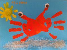 Tapa álbum escolar cangrejo. portada álbum tercer trimestre. Dibujar un cangrejo…