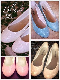Blush Bridal Collection Glitter Wedding Flats by ashleybrooks1984, $50.00  @Glorious Hinkle @Sue Barnett McCaffrey