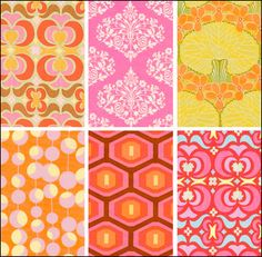 love the patterns... want pink/turquoise