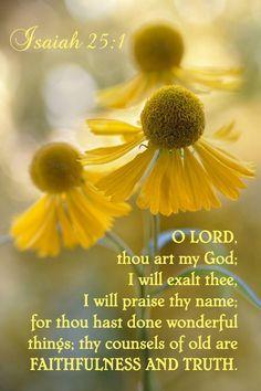 Isaiah 25:1 KJV
