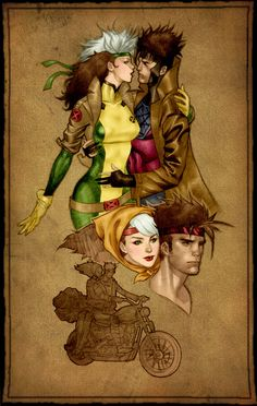 Rogue and Gambit by Karen S.... might be our halloween costumes this year