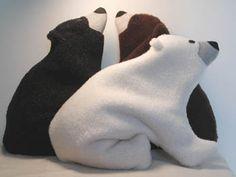 Cute Gift: $34  Cozy Black Bears & Polar Bears  Back Warmers • Neck Warmers • Hand Warmers • Foot Warmers