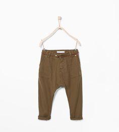 ZARA - KIDS - Drop crotch trousers with pockets