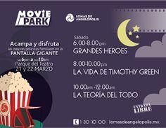 Soy entretenido. Acampa y disfruta de las mejores películas en el Parque del Teatro en Lomas de Angelópolis. Te esperamos desde las 6 pm de este sábado 21 de marzo hasta las 10 am del domingo 22 de marzo. Entrada libre! #SoyLomas #películas #familia #diversión