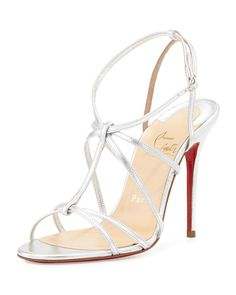 christian louboutin replicas shoes - Christian Louboutin - Bella Tige Floral Laser-Cut Red Sole Sandals ...