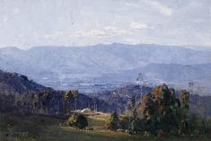 View from Olinda, c. 1926 - Arthur Ernest Streeton (1867-1943) Australia