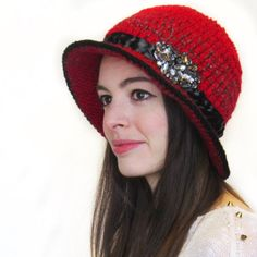 This one of a kind gorgeous wool hat is available now!