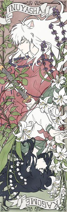 Credit to artist Inuyasha Fan Art, Inuyasha And Sesshomaru, Kagome And Inuyasha, Kagome Higurashi, Fanarts Anime, Anime Characters, Otaku Anime, Manga Anime, Seshomaru Y Rin