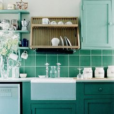 turqoise kitchens