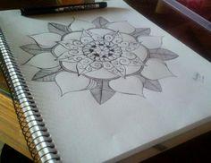 Mandala con microfibra. #Mandala #Microfibra #Draw #Dibujo