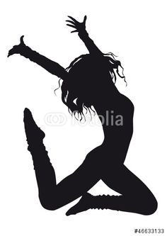 """Dancer silhouette on a white background"""" Stock image and royalty ..."""