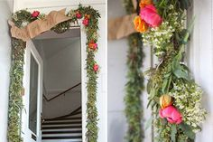 Bring spring indoors with a DIY floral garland.