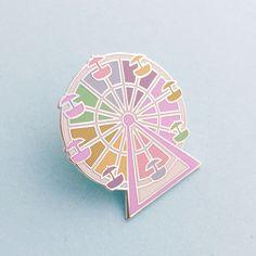 Pastel Rainbow Ferris Wheel Enamel Pin Badge, Lapel Pin, Tie Pin by fairycakes on Etsy https://www.etsy.com/listing/265672895/pastel-rainbow-ferris-wheel-enamel-pin