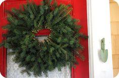 Make an evergreen wreath