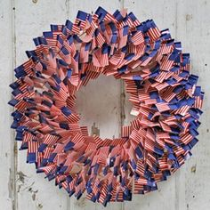 4th July flag wreath