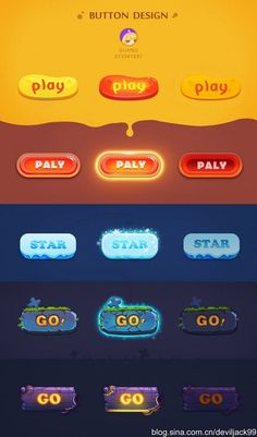 collection to the game UI-Gif animation and button (Figure _ petals UI / UX Game Design, Web Design, App Ui Design, Game Gui, Game Icon, Cute Games, Mini Games, Level Design, Game Interface