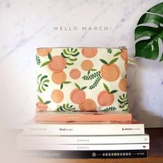 MARCH. Time to organize your life!This beautifully printed canvas pouch is an ideal organizer to k...