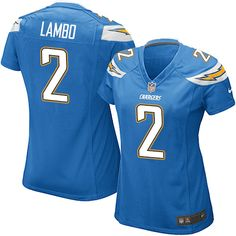 Nike Game Josh Lambo Electric Blue Women s Jersey - Los Angeles Chargers  2  NFL Alternate · Chargers NflSan Diego ... 809319f7c