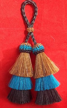 Unique triple layered horse hair tassels from Knot-a-Tail.com The tassel is from http://knot-a-tail.com/catalog/16 #horsehair tassels
