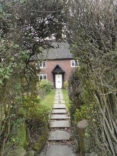 "vwcampervan-aldridge: ""Cottage with arched hedge, Aldridge, Walsall, England All Original Photography by http://vwcampervan-aldridge.tumblr.com """