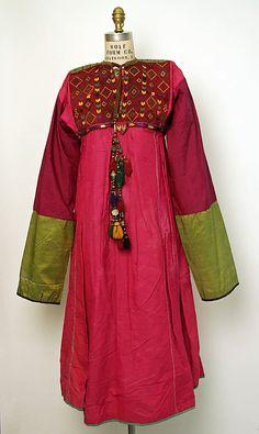 Dress  Date: third quarter 19th century Culture: Afghan (probably) Medium: silk  Metropolitan Museum of Art