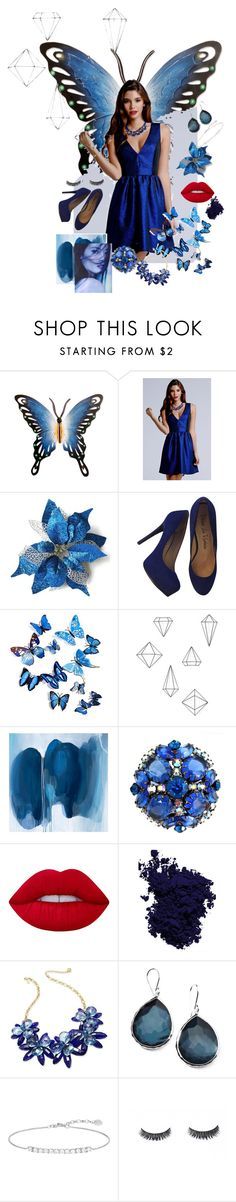 """""""Blue Butterfly"""" by zaynabi ❤ liked on Polyvore featuring NOVICA, Pour La Victoire, Umbra, Pottery Barn, Lime Crime, NARS Cosmetics, Kate Spade, Ippolita, Thomas Sabo and butterfly"""