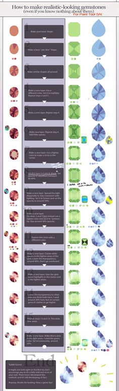 Realistic gemstone tutorial - Paint Tool SAI by *longestdistance on deviantART