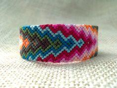 Friendship Bracelet  Rainbow Arrow Pattern by FriendsnMe on Etsy, $9.00