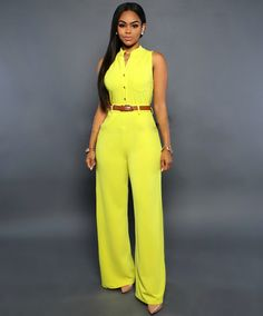 Sleeveless Elegant Jumpsuit Overall 2016 Plus Size Solid Jumpsuits and Rompers for Women(No Belt)