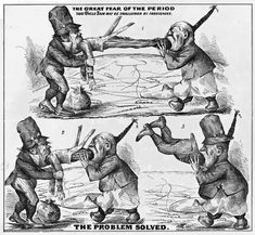 Political cartoon showing Uncle Sam being swallowed by Chinese and Irish immigrants. Source: US Library of Congress, www. Asian American, American History, The Bowery Boys, American Independence, Great Fear, Teacher Name, Teaching History, Irish Men, Event Posters