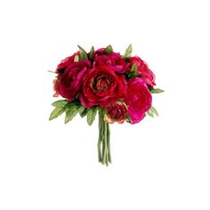 Silk Ranunculus Bouquet in Fuchsia Red | Wedding Flowers | Hassle Free... ($7.99) ❤ liked on Polyvore