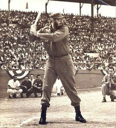 Castro playing baseball
