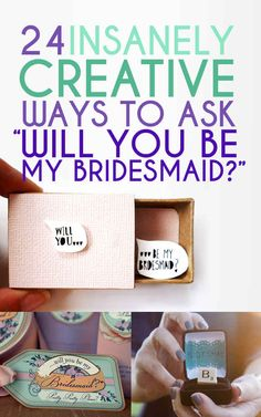 """24 Insanely Creative Ways To Ask """"Will You Be My Bridesmaid?""""DIY wedding ideas and tips. DIY wedding decor and flowers. Everything a DIY bride needs to have a fabulous wedding on a budget! Wedding Wishes, Our Wedding, Dream Wedding, Wedding Ideas, Wedding Stuff, When I Get Married, I Got Married, Bridesmaids And Groomsmen, Wedding Bridesmaids"""