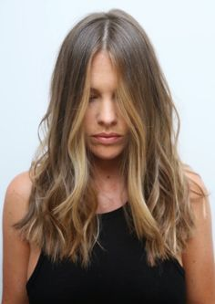 Long Wavy Ash-Brown Balayage - 20 Light Brown Hair Color Ideas for Your New Look - The Trending Hairstyle Balayage Blond, Hair Color Balayage, Hair Highlights, Ombre Sombre, Blonde Ombre, Sunkissed Hair Brunette, Brunette Hair, Light Brown Hair, Light Hair