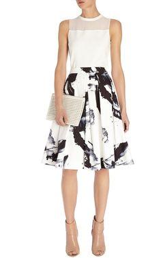 Paint printed full skirt | Luxury Women's zz_criteo | Karen Millen