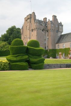Crathes Castle Yews Crathes Castle is a 16th-century castle near Banchory in the Aberdeenshire region of Scotland. This harled castle was built by the Burnetts of Leys and was held in that family for almost 400 years.