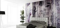 Panoramic wallpaper with floral pattern INSPIRE DAVID David Collection by N.O.W. Edizioni