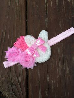 Easter Bunny Headband Bow by LillyAndE on Etsy, $12.00