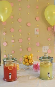 Cute polka dot backdrop for party  I need to have a lemon party.  Cupcakes instead of polka dots.