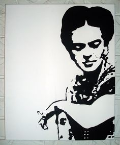 Black & White Frida Kahlo. I will attempt to paint this soon.